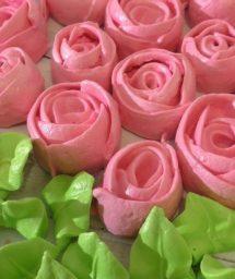 Розы из безе