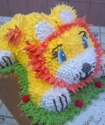 Украшение торта Львёнок