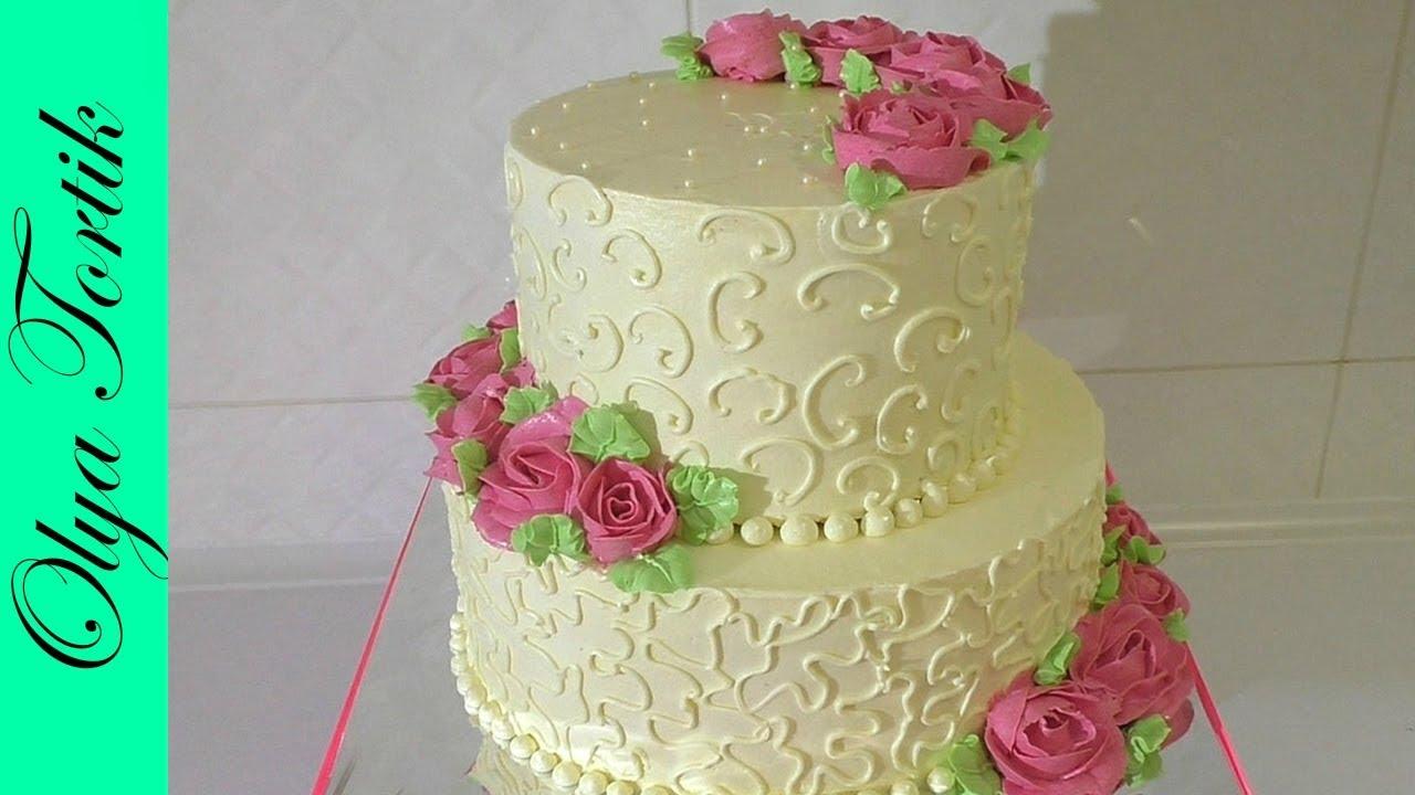 Кремовый торт на ЮБИЛЕЙ