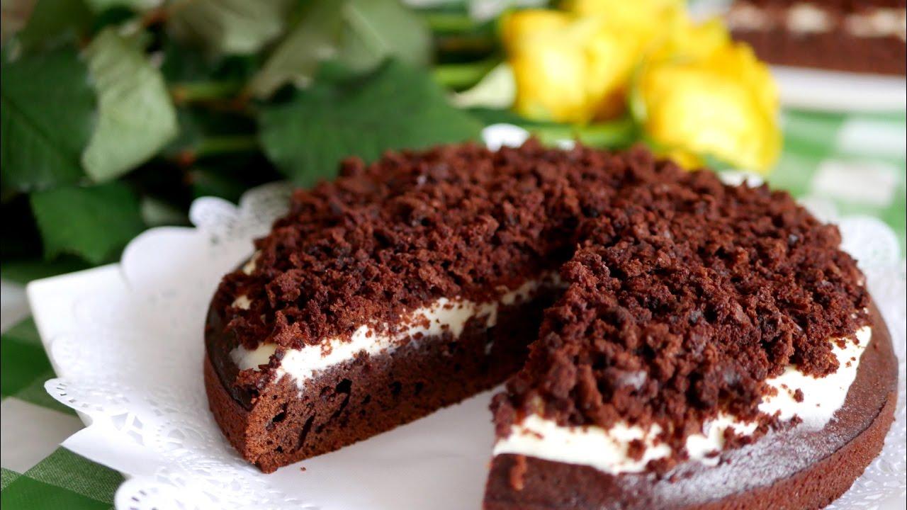 Шоколадный пирог с кофе