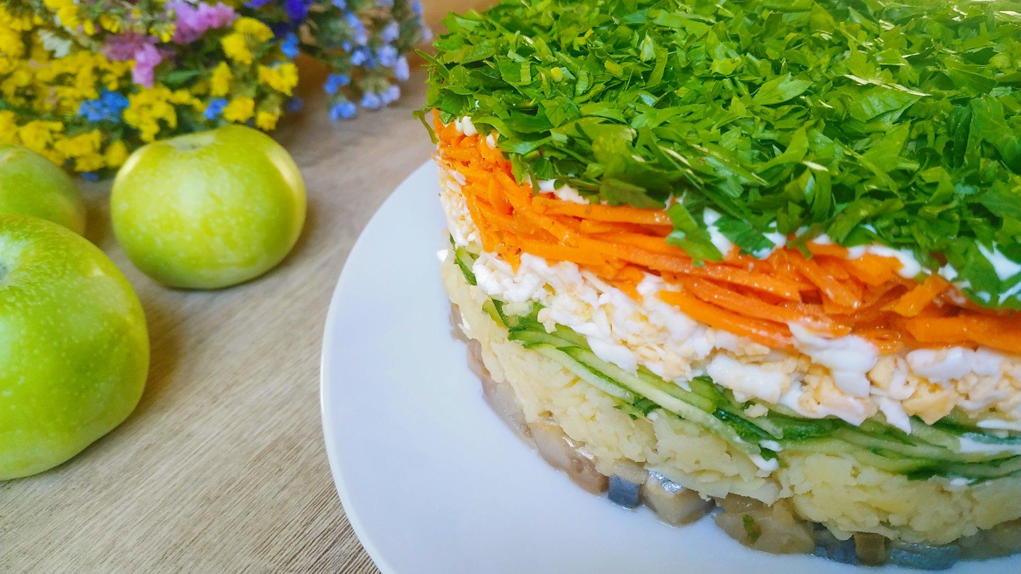 Салат-селедка-под-зеленой-шубой